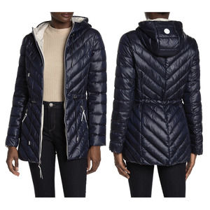 French Connection Packable Puffer Anorak Blue L
